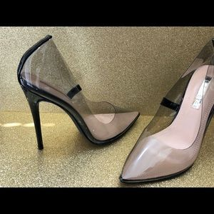 Brand new with box black/clear pumps